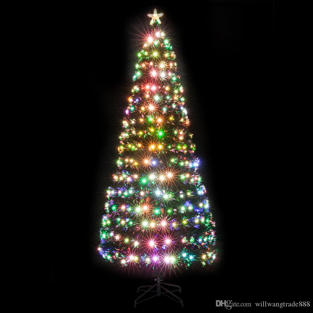 Fiber Optic Christmas Trees.7 5ft Fiber Optic Christmas Tree With 260 Led Lamps And 260 Branches
