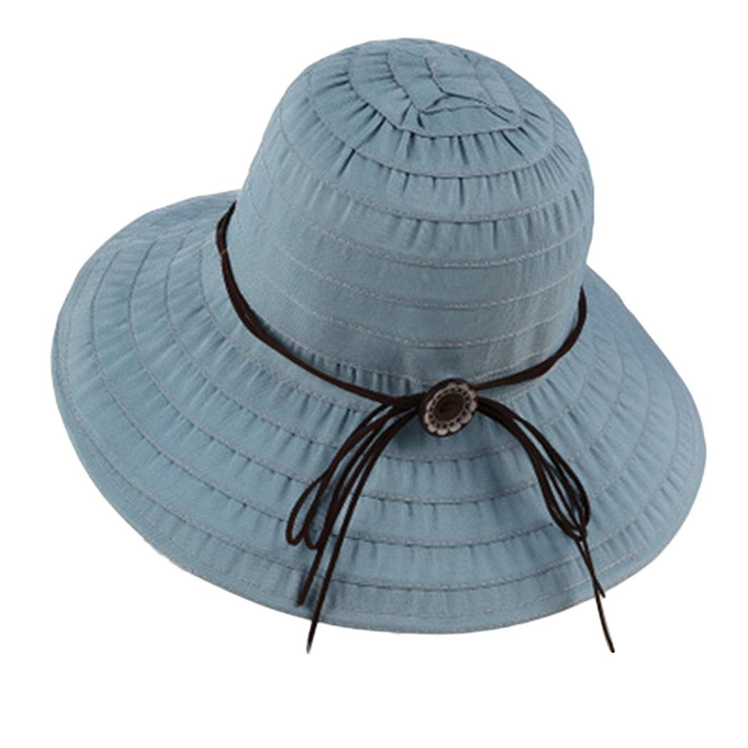 Summer Women UV Protection Sun Hats Fashion Foldable Beach Hat Women ... 813c2302057