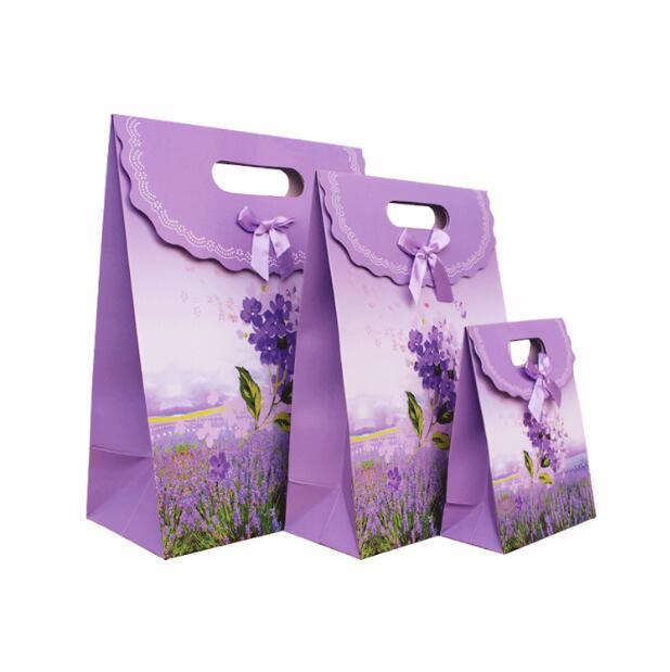 Purple Lavender Gift Bags With Handle Candy Cookie Bags Packaging Jewelry Gift Party Favor Wedding Wraping Paper Wrapped Christmas Gifts From Bowstring ...  sc 1 st  DHgate.com & Purple Lavender Gift Bags With Handle Candy Cookie Bags Packaging ...