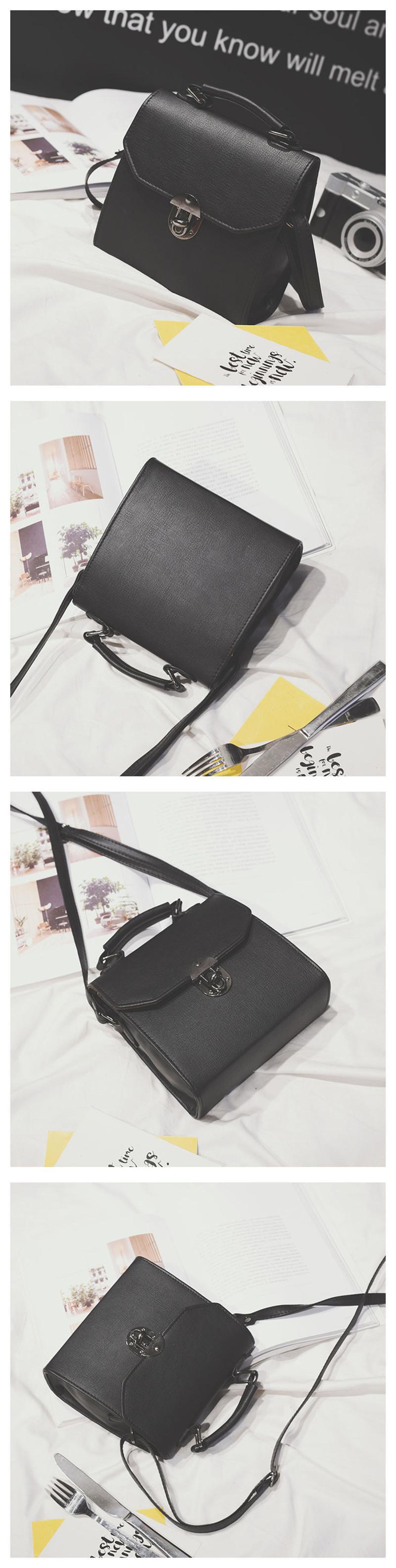 2018 Spring New Fashion Retro Oblique Cross Handbag Shoulder Bag Lock Small Bag Women Messenger Bags Hot Sale