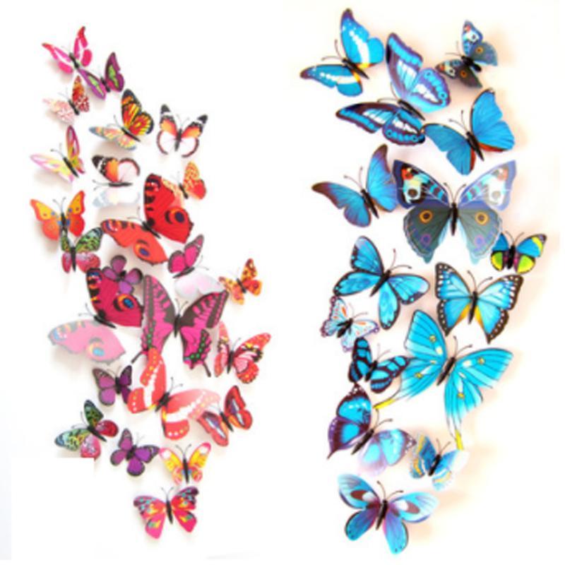 3d butterfly wall sticker on the wall for home decor diy butterflies