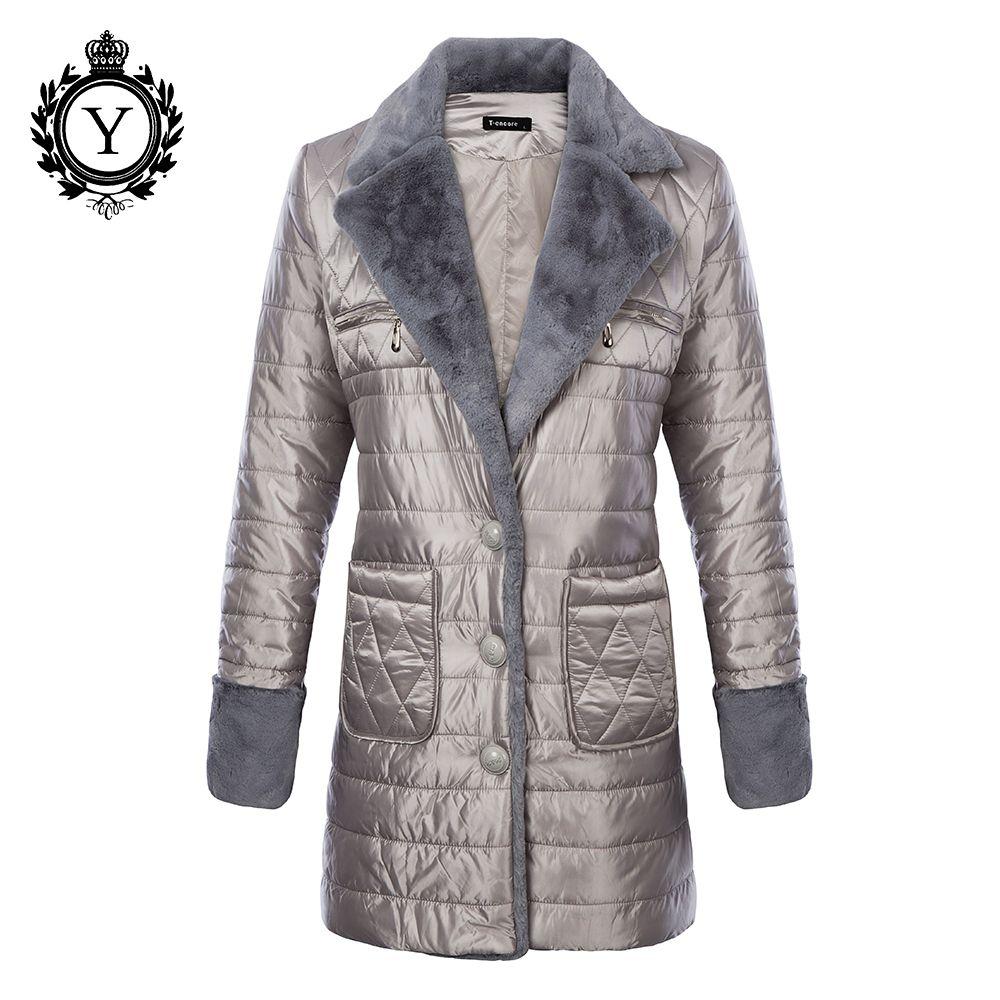 Großhandel 2018 Ukraine Stilvolle Baumwolle Jacke Herbst Winter Frauen  Langen Mantel Parkas Pelz Gefüttert Kragen Warme Weibliche Outwear Mäntel  Von ... 22e993e0f0