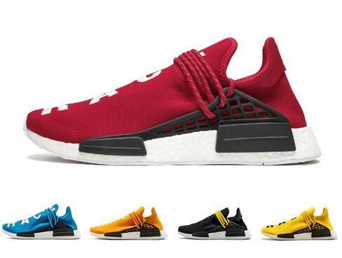 purchase cheap 19a65 913ff Red white Orange Human Race trail Running Shoes holi Core black Equality  Men Women Pharrell Williams HU Runner Yellow sports runner sneakers
