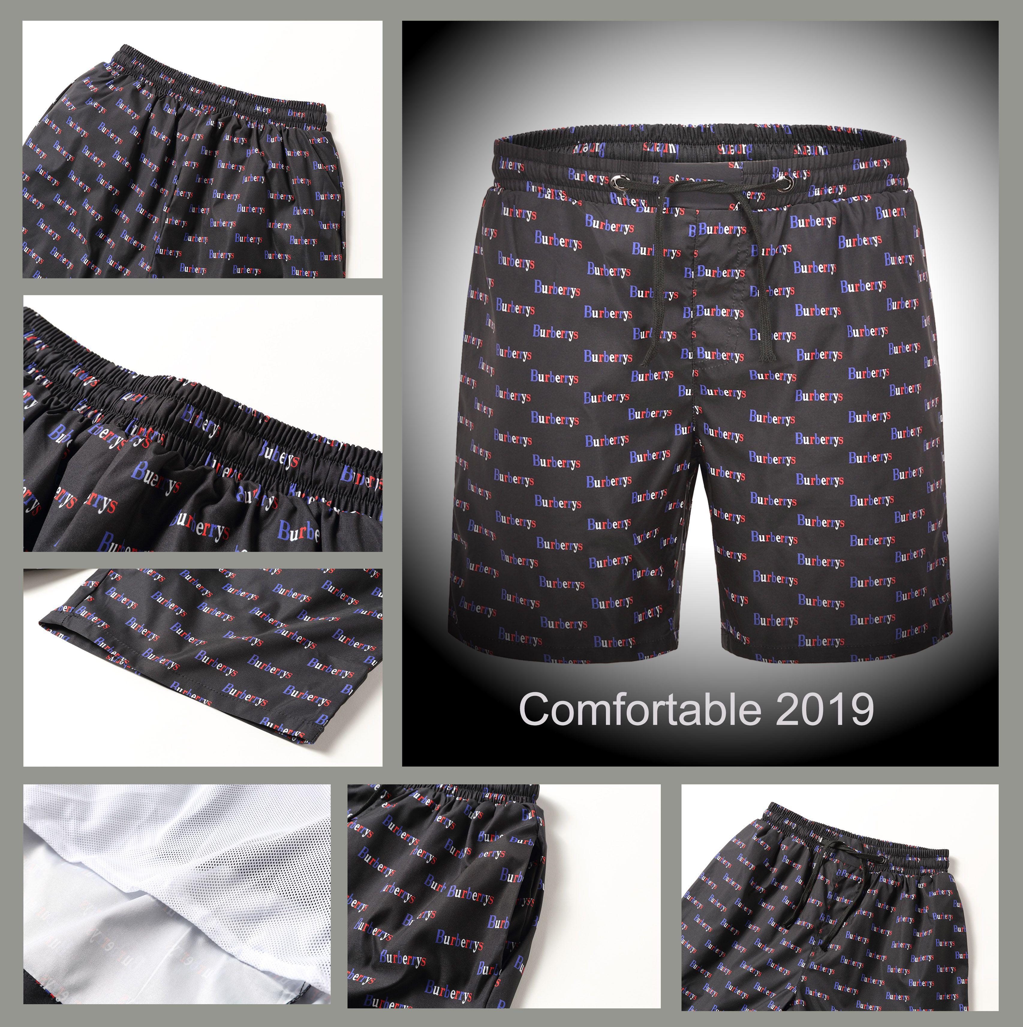 d7a77270c2 2019 summer shorts men's fashion brand monogrammed brand designer original  beach pants men's shorts elastic band fitness men's board shorts