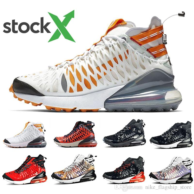 Nike air max 270 ISPA shoes airmax Stock X Black Anthracite 270 Ispa SP SOE Men women Running Shoes 270s Terra Orange Cushion White Ghost Reflective Mens Sports Sneakers 36-45