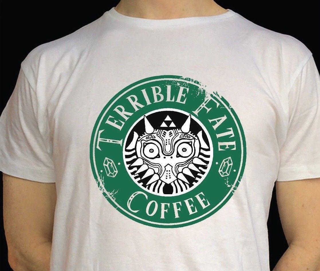 6ade4979 Legend Of Zelda T Shirt Switch Starbucks Funny Zelda Shirt! Casual Short  Sleeve Print 100% Funny Shirts Dress Shirt From Peng32, $14.67| DHgate.Com