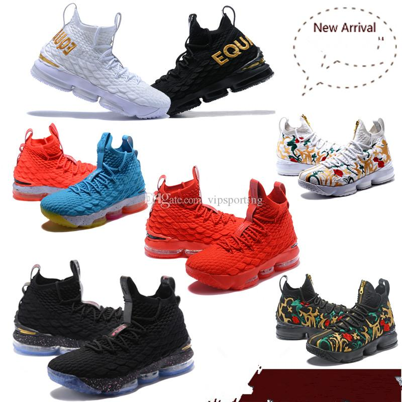 half off 10d5b c5a31 Newest Ashes Ghost lebron 15 Basketball Shoes Lebrons shoes Sneakers 15s  Mens James sports new Shoes