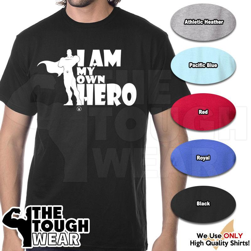 eed1ef9f I AM MY OWN HERO Gym Rabbit T Shirt Workout Bodybuilding Fitness D099 All T  Shirt Order Tee Shirts From Pickapair, $12.96| DHgate.Com