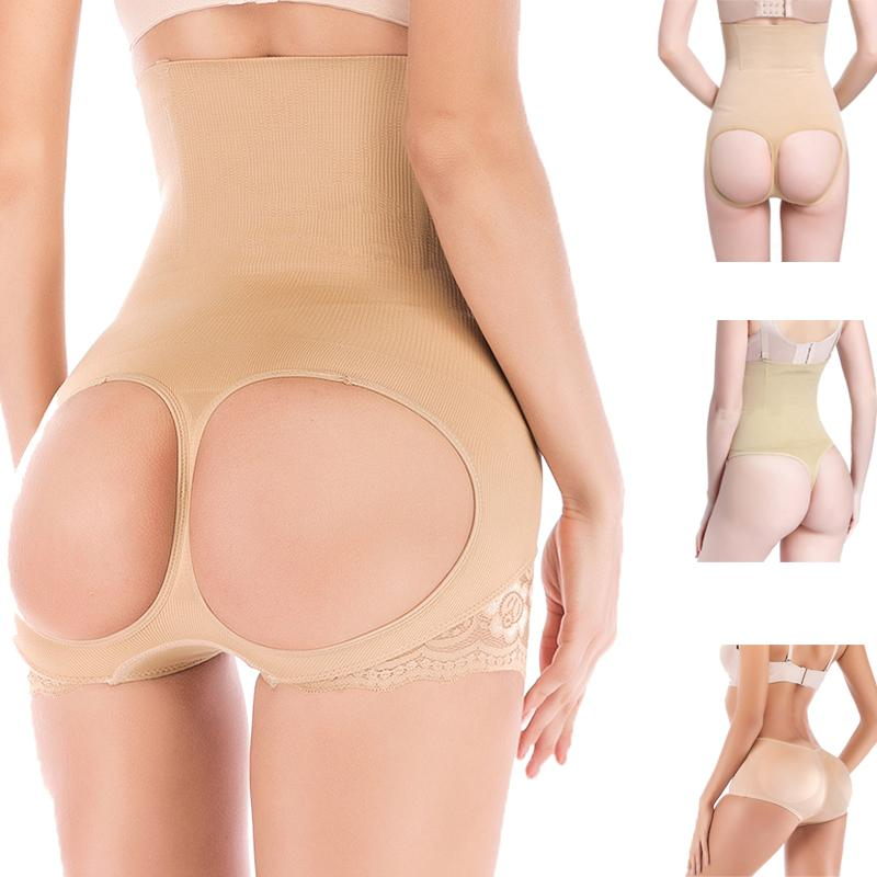 5445a67962 2019 MYLEY Lace Butt Lifter Women Slimming Shapewear ASS Saver Tummy  Control Panties High Waist Trainer Body Shaper Tight Power Short From  Beenni