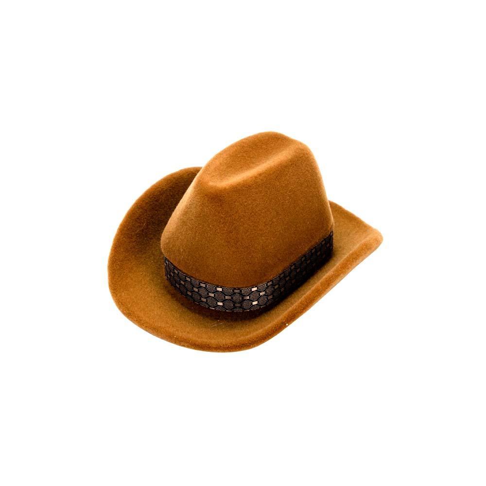 1a7eb607ee88d Compre Design Criativo Chapéu De Cowboy Forma Anéis Caixas De Jóias De  Veludo Exibição De Embalagem De Moda Caixa De Presente Caixa De  Armazenamento De ...