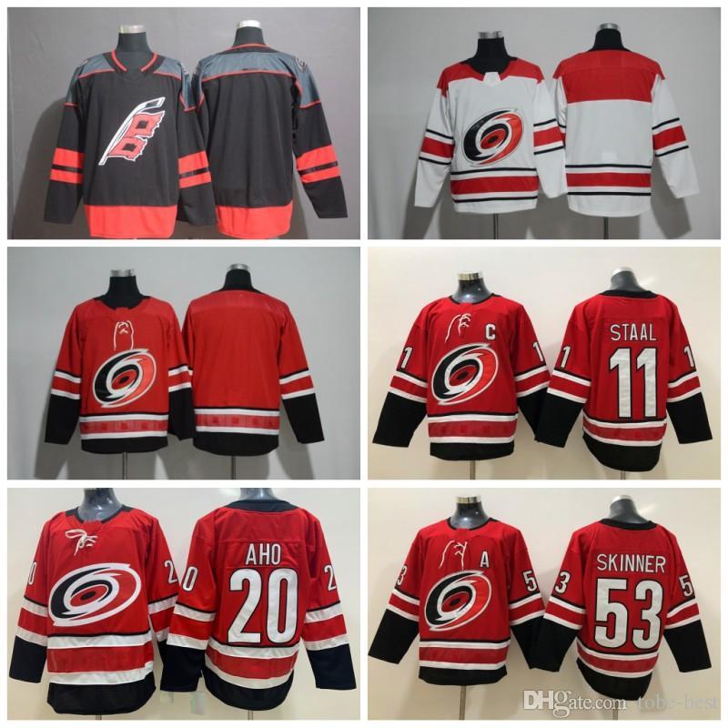 51a284ff2295 2019 2018 New Alternate Black Carolina Hurricanes Hockey Jerseys 20 ...