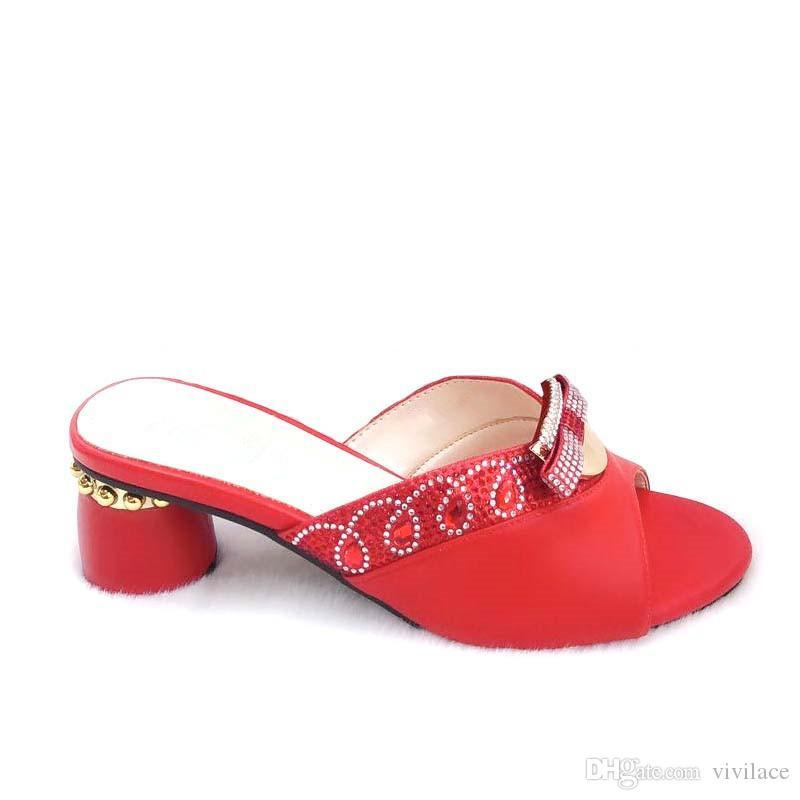 Pour Sandales De Femmes Chaussures Africain Talons Les Mariage Des Italiennes Dernières Bas Glissent Sur Pompes Parties rCedxBoW