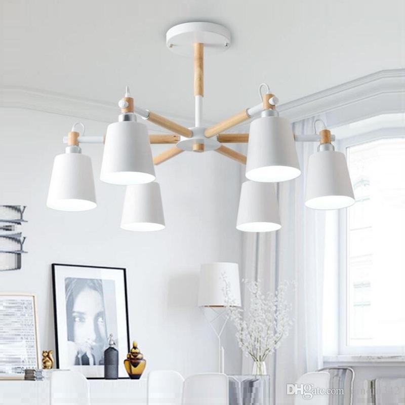 Salon Maison Fer Abat Para Bois Massif Pour Sala En Éclairage De Jantar Lustres Moderne Lustre Lampe Led Jour j3Rq5AL4