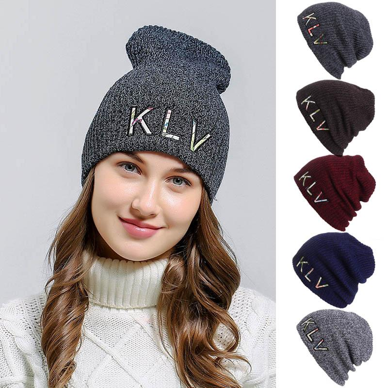 f86787ced9954 Embroidered Outdoor Women Men Hedging Cap Winter Slouchy Thick ...