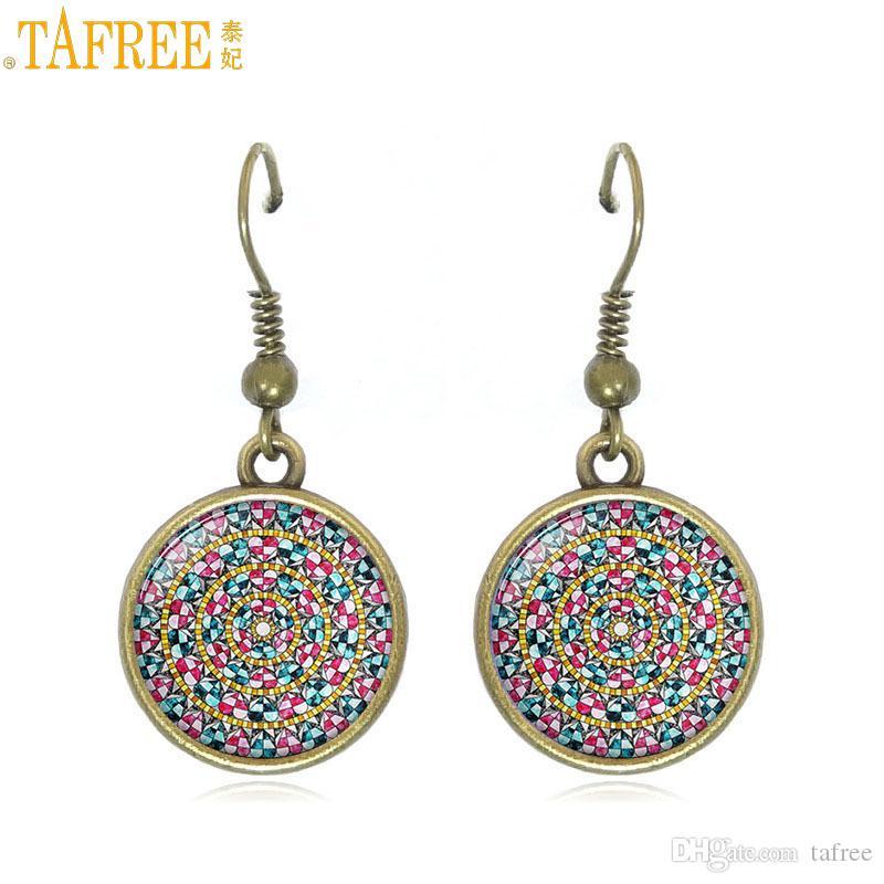 2019 Tafree 2018 Vintage Ethnic Style Mandala Women Jewelry Drop