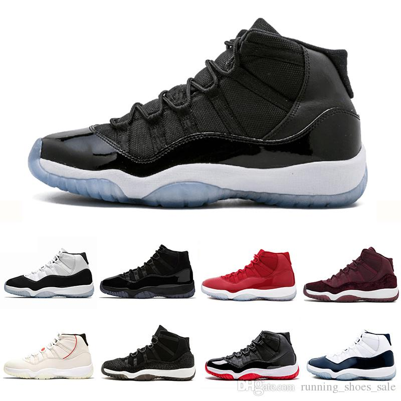 a9b2ece8a6366c Space Jam XI 11s Bred 11 Concord Basketball Casual Shoes Platinum Tint Gym  Red Cap And Gown PRM Heiress Women Men Sports Sneakers Footwear Sport Shoes  From ...