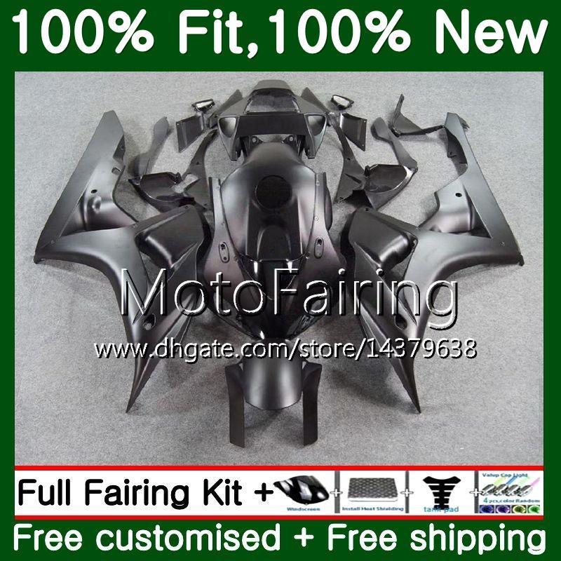 혼다 용 CBR1000 RR CBR 1000RR 06 07 키트 52MF11 CBR 1000 RR 2006 2007 CBR1000RR 06 07 매트 블랙 100 % 맞춤형 바디 세공