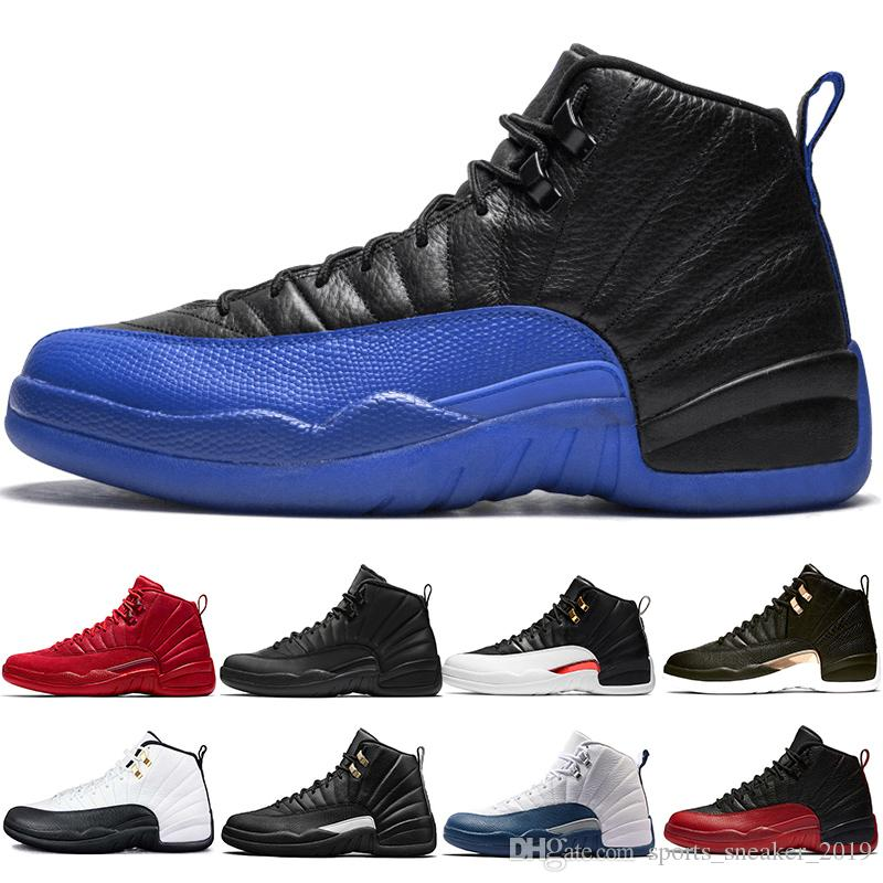 Reverse Taxi 12s Men Designer Basketball Shoes 12 White Grey Game Royal Midnight Black Gym Red Winterized The Master Designer Trainer Sport