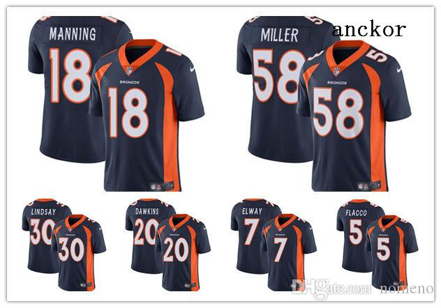 new arrivals 388c6 58a77 Denver MEN WOMEN YOUTH 30 Phillip Lindsay 58 Von Miller 55 Chubb Limited  Alternate Jersey Football Broncos Navy Blue Vapor Untouchable