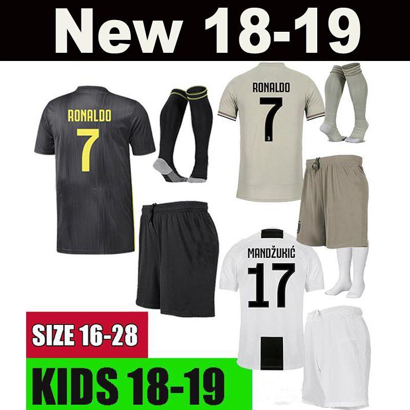 wholesale dealer 2cba6 1f004 KIDS DYBALA RONALDO 18 19 juventus kids BONUCCI soccer jerseys 2018 2019  child football shirt MANDZUKIC CHIELLINI Camiseta