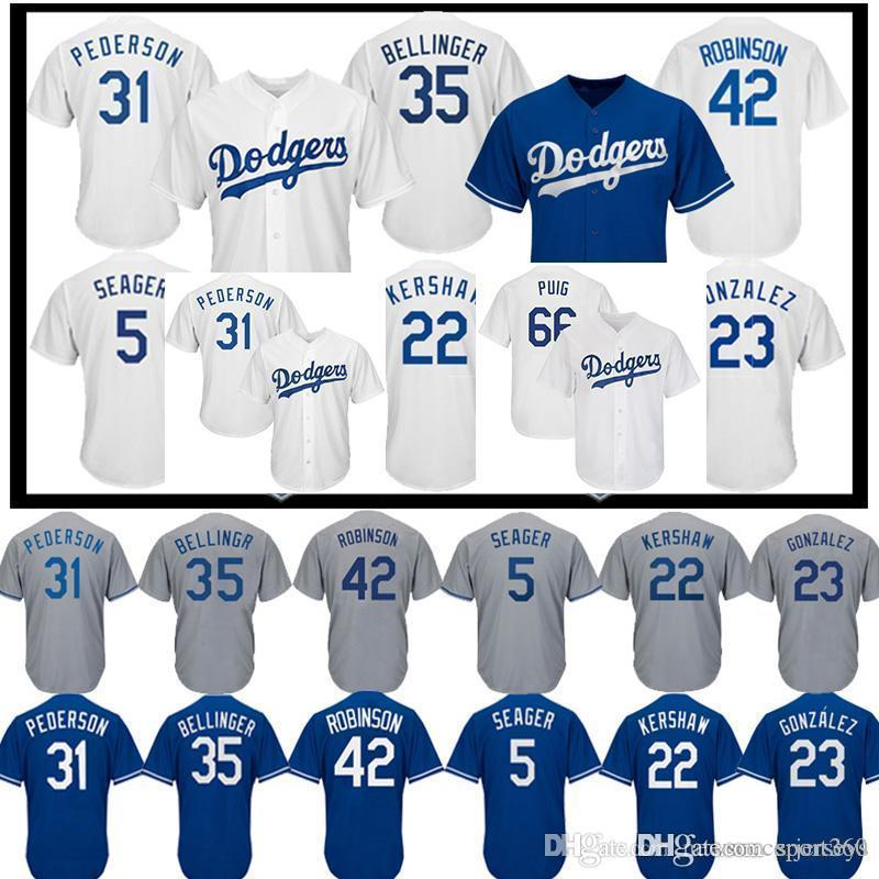 save off b0c26 c0f21 22 Clayton Kershaw LA Dodgers jersey 10 Justin Turner 66 Yasiel Puig 23  Adrian Gonzalez 5 Corey Seager men Baseball jerseys