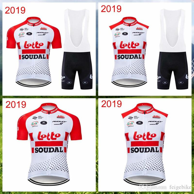 2019 LOTTO Soudal Team Cycling Short Sleeves Jersey Bib Shorts Sleeveless  Vest Sets Men Hot Sale Quick Dry Breathable Sets Q012901 Custom Bike Jerseys  ... c9d7bce53