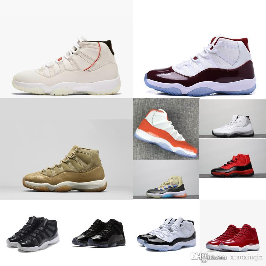 c91fdaaf259550 2019 Retro Mens 11s Basketball Shoes For Sale J11 Olive Orange White  Platinum Wolf Grey Snakeskin Kids Jumpman 11 XI Sneakers Boots With Box  From Xiaoxiuqin ...
