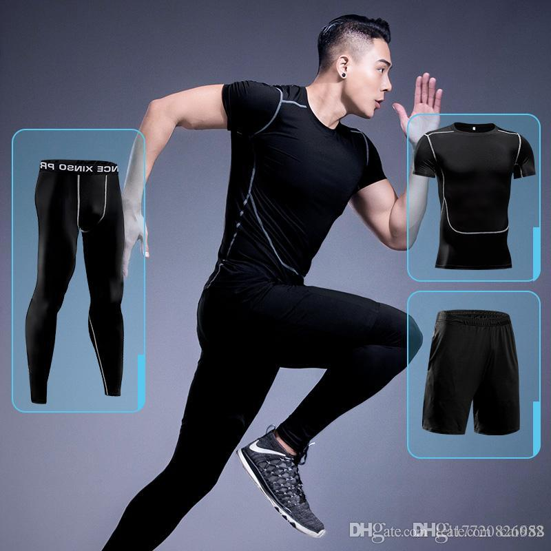 dc6ac3eaaadaee Großhandel Herren Gym Fitness Bekleidung Sportswear Quick Dry ...