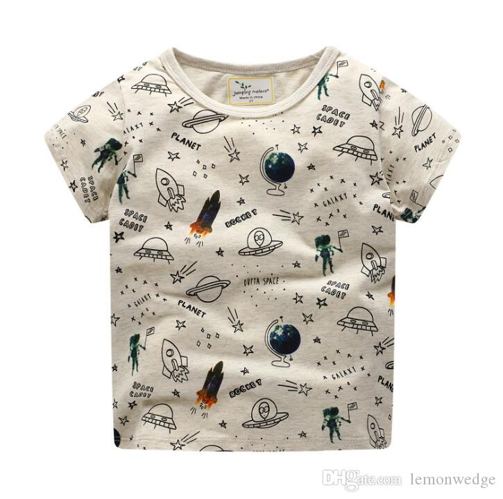 Compre Chicos Tops Verano 2019 Camisetas Para Niños Ropa Para Niñas  Camiseta Para Niños Algodón Estampado De Personajes Ropa Para Bebés A   27.64 Del ... 3836a83fee131