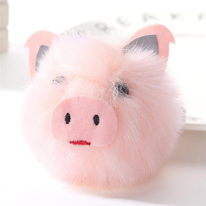 2018 Cute Pink Pig Keychain Pom Pom Keychains Fake Fur Ball Key Chain  Fluffy Bag Charms Keyring Accessories Couple Keychain Personalized Key  Chains From ... cf30e7ee7480