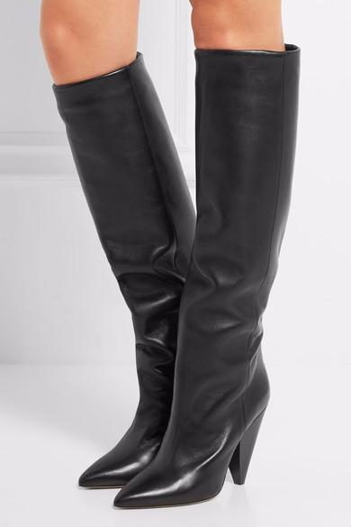 5d6fc952a Rouge bleu bout pointu genou bottes hautes bottes talon aiguille dames sexy  chaussures femme cuir bottes de pluie d'hiver talons hauts pompes