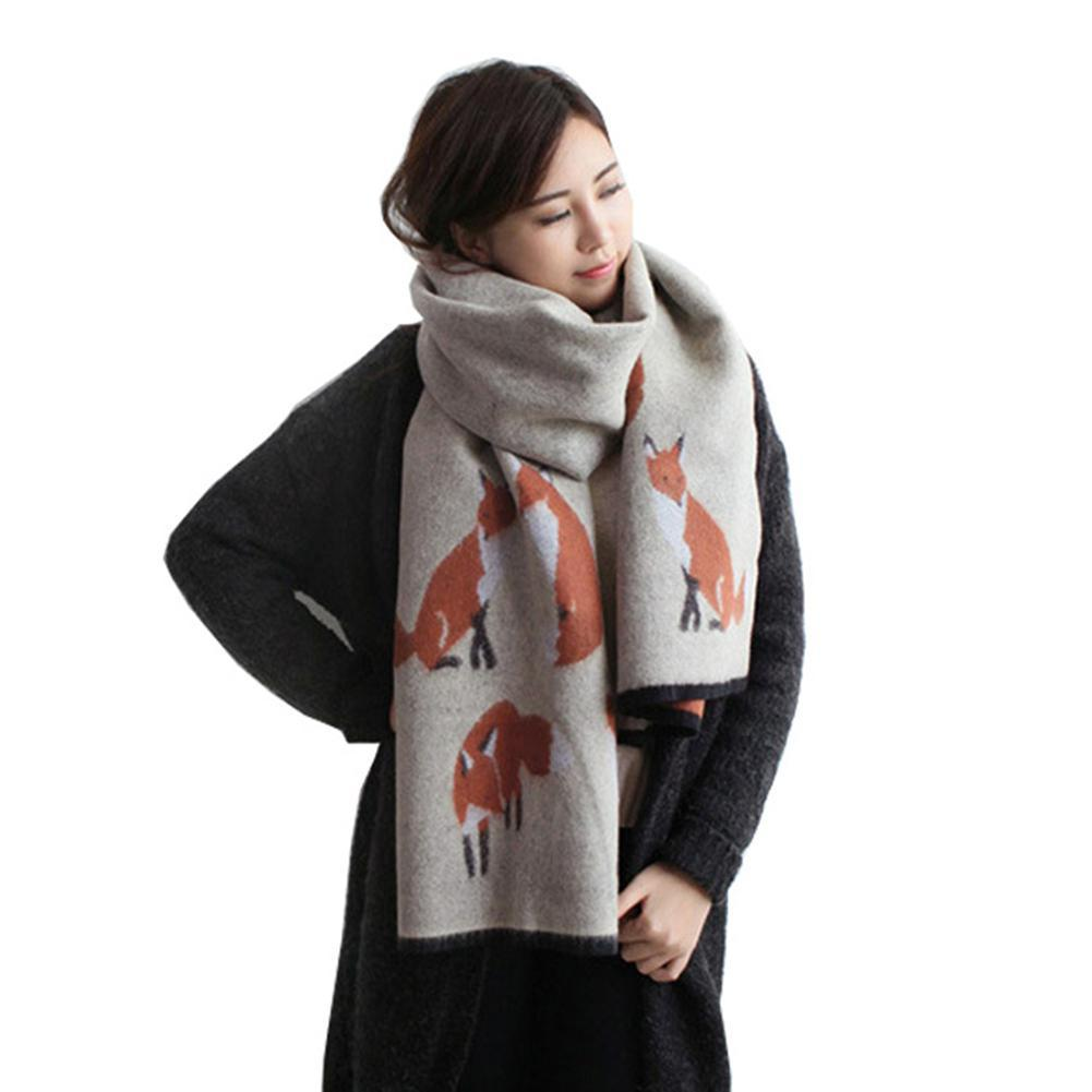 040929ac36e Wholesale Women Winter Warm Cashmere Scarf Fox Printed Thicken Shawl  Fashion All Match Scarf Wrap Crochet Scarves Fashion Scarves From  Youerjerry