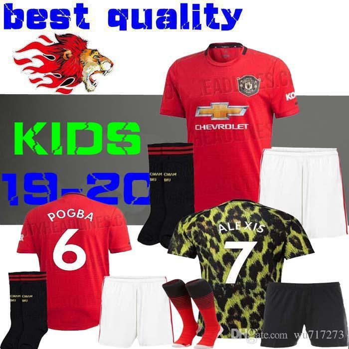new product 0ab17 52f6d 19 20 ALEXIS LUKAKU soccer jerseys MAN United THIRD 2019 2020 home POGBA  RASHFORD AWAY football shirt KIDS Child BOYS Lingard EA Manchester