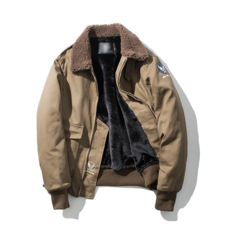 timeless design d164f 278f2 Neue marke männer bomberjacke winter hohe qualität fleece lamm jacke  amerikanischen vintage mantel oberbekleidung dicke männliche plus größe