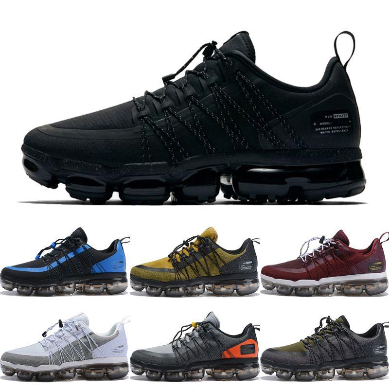 best service e062a 0471e Acheter Nike Air VaporMax Run Utility 2019 Run Utility Chaussures De Course  Pour Hommes Triple Blanc Noir Vapeurs Réfléchissant Moyen Olive Bordeaux Air  ...