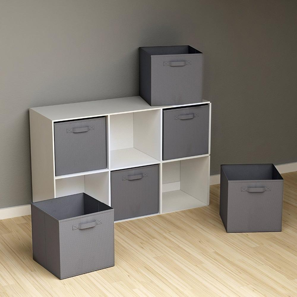 d5a7b61a54ac folding Non-Woven Fabric storage box Closet Cubes Bins Organizer kid toy  storage bins Offices for Home Organization