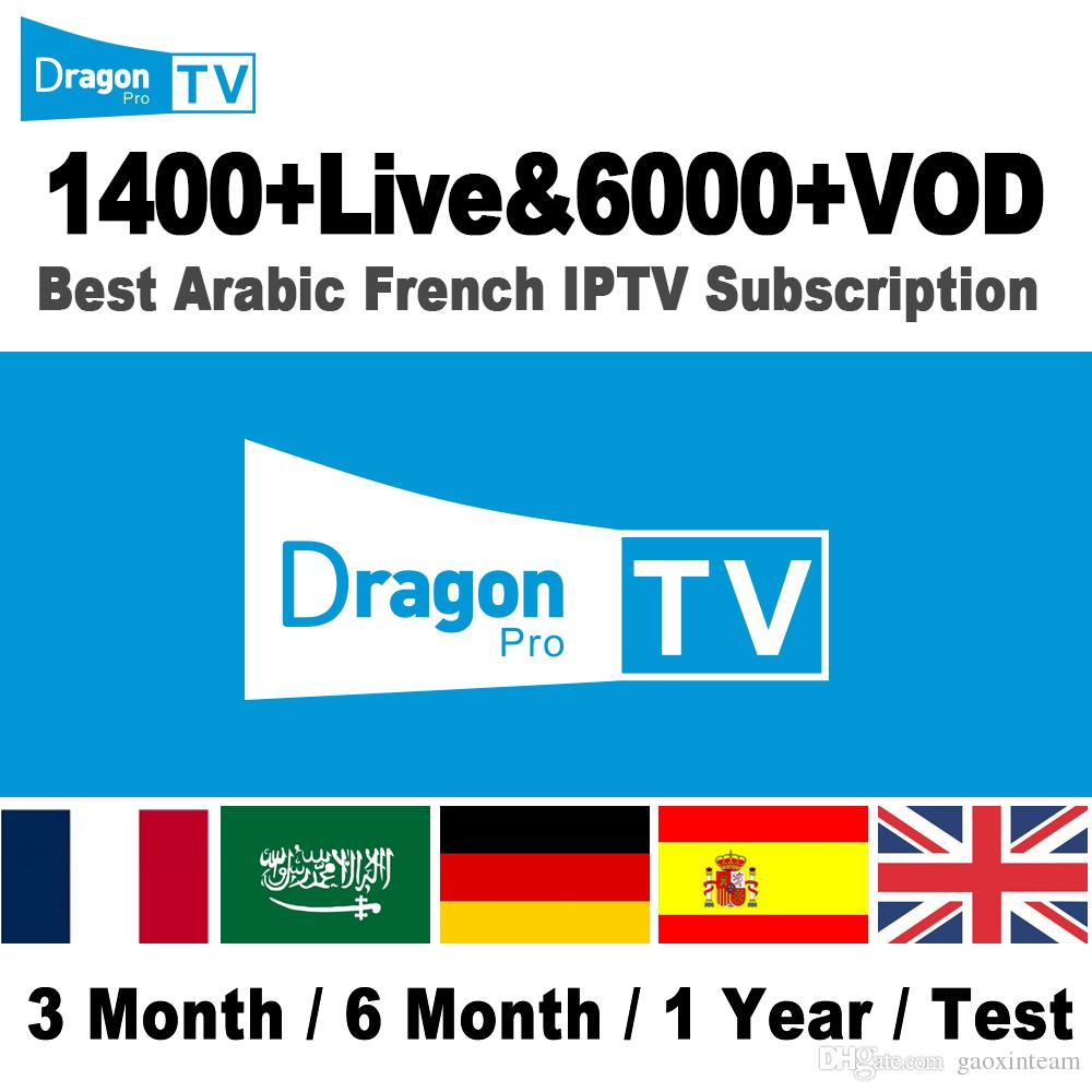 IPTV Account subscription 1400 Live/6000 VOD for Android Smart TV IOS Mag  Device France Arabic India IPTV Channle