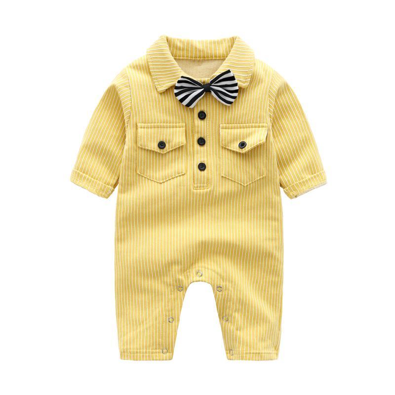 e56ac5a5e 2019 Newborn Baby Clothes Yellow White Striped Spring Autumn Baby ...