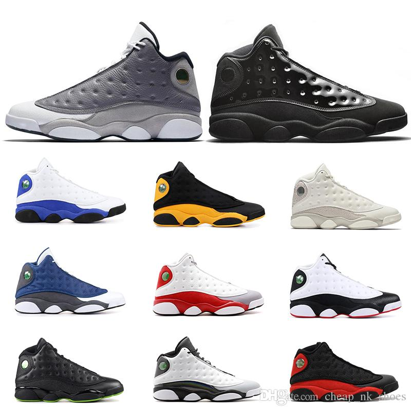 hot sale online f3c8d ffa21 13s Mens Basketball Shoes Cap And Gown Atmosphere Grey DIRTY BRED CHICAGO  HYPER ROYAL GREY TOE BLACK CAT OLIVE 13 Men Sports Sneakers Shoes Mens  Online ...