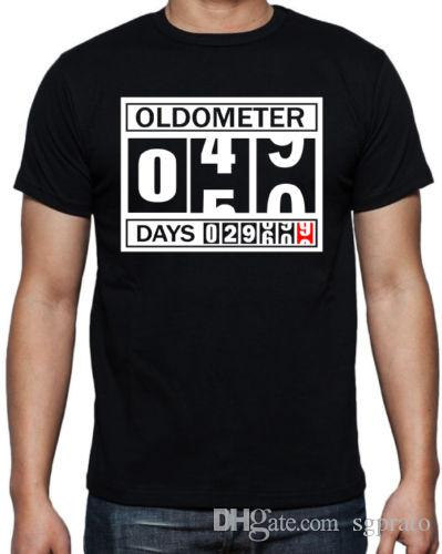 affda889 50th Birthday Oldometer Funny Present Gift Party Son Brother Dad Black T  Shirt Fun Shirts T Shirts Online Shopping From Sgprato, $10.52  DHgate.Com