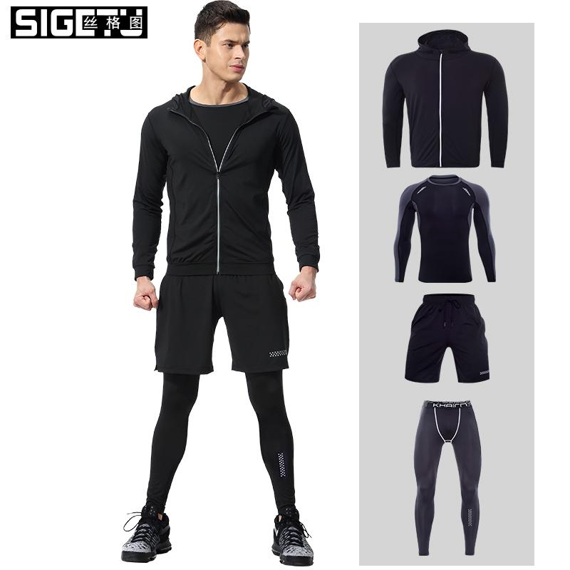 fce2f38d2d Workout & Training Clothes Men s Gym Clothes Suits Ropa Gym Hombre Mens  Clothing Sportswear Running Clothing for Men Sets XL