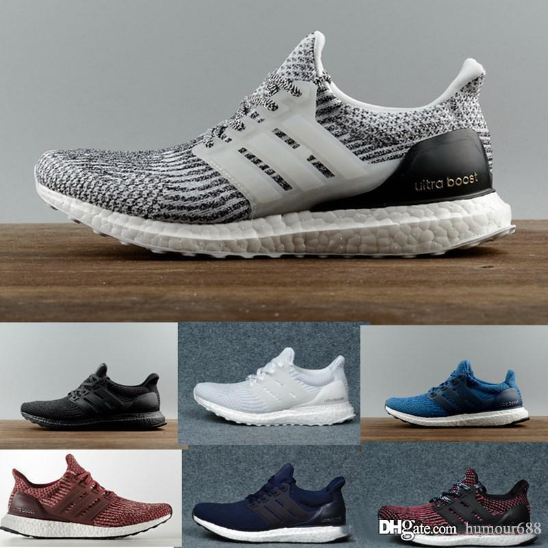 Adidas Ultra Boost 3.0 4.0 Triple Black and White Primeknit Oreo CNY Azul gris Hombres Mujeres zapatos casuales Ultra Boosts deporte ultraboost