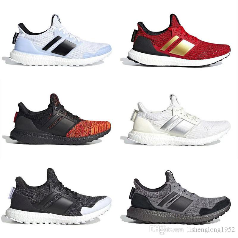 Barato Game of Thrones Ultra Boost Lannister White Walkers Shoes Nuevos Hombres Mujer Ultraboost UB 4.0 PK Zapatillas de deporte Tamaño 36 45