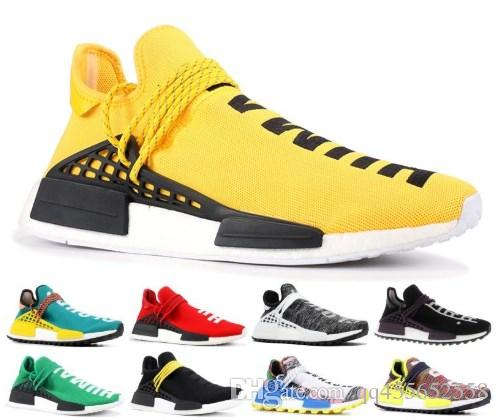 best service 227ce 72a13 Human Race Shoes Pharrell Williams Hu trail Oreo Nobel ink Black Nerd  Designer Sneakers Men Women Sport Shoes