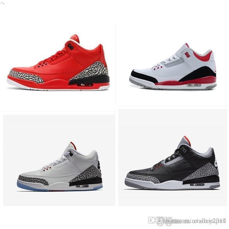0970c11a6ed 2019 Mens AJ3 Basketball Shoes Retro Jumpman 3 Air Pure White Sports ...