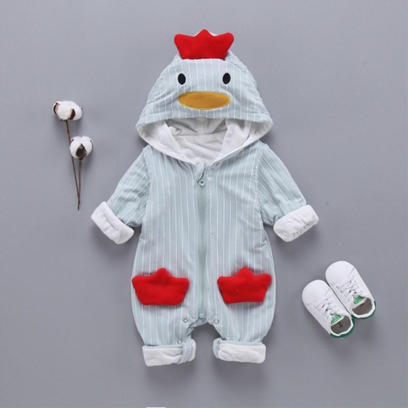 0001b1f25990 2019 Cute Autumn Winter Cotton Baby Romper Fleece Long Sleeve ...