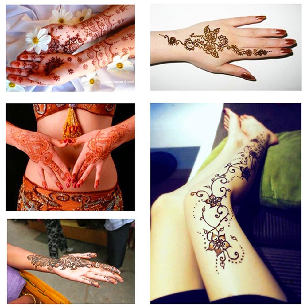 Drop Ship Indian Henna Paste Tatuaggio Temporaneo Impermeabile Body Paint hena Art Cream Cono Stencil Mehndi Body Art