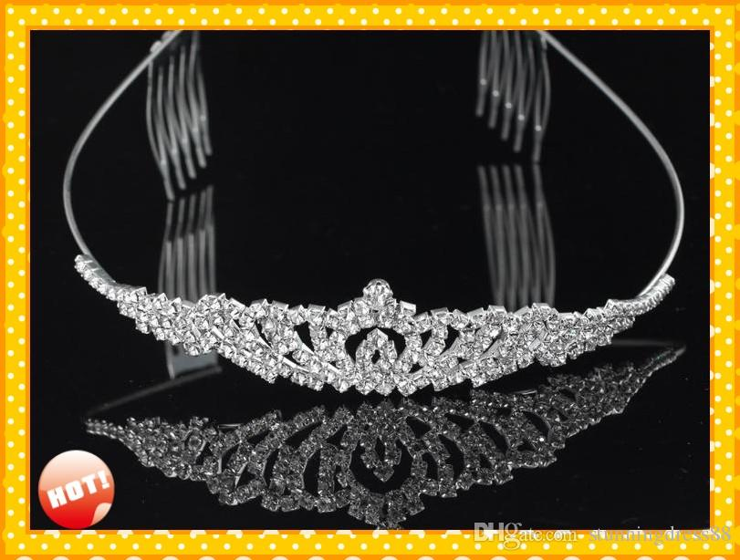 2019 Modest Bridal Accessories wedding Headpieces Tiaras Free Shipping Cheap Designer Adult Junior Girls Tiaras For Prom Party