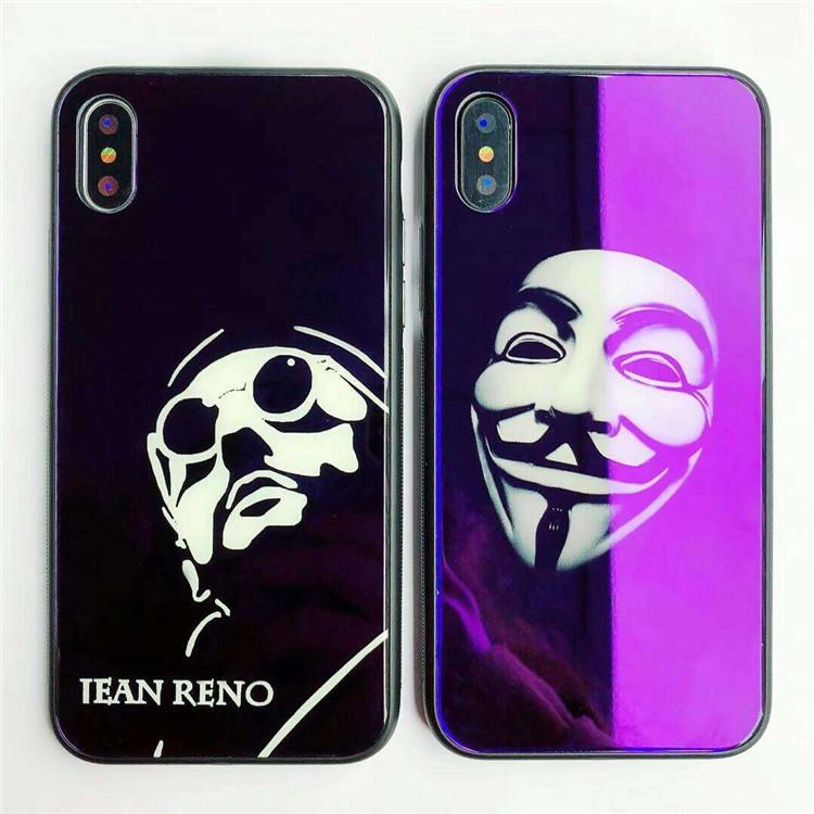 best website 19c26 1bd16 Fashion Cool Phone case Creative Personality IPhone X Mobile Phone case for  iphone 8/7plus Glass Package Anti-falling 6S Tide Male Money