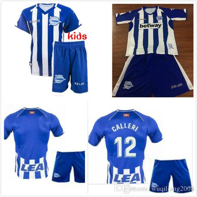 e09d4cd22 2019 2018 2019 Kids Kit Deportivo Alavés Soccer Jerseys 18 19 Home Away  Alaves IBAI BURGUI SOBRINO LAGUARDIA Munir Guedetti Boy Football Shir From  ...